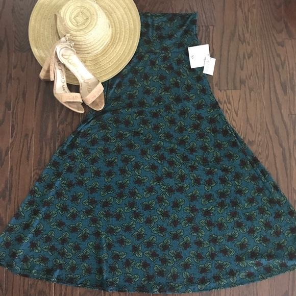 aba34b840e1 NWT LuLaRoe Maxi Skirt Size XS Fits Sizes 2-4